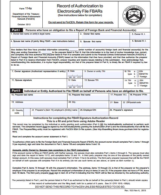 Form FinCEN 114